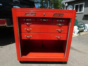 Vintage Snap On Toolbox Tool Box Cabinet Chest K 300 De Luxe Roller Bench 1940s