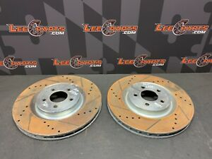 2013 Ford Mustang Gt Aftermarket Drilled Slotted Front Rotors