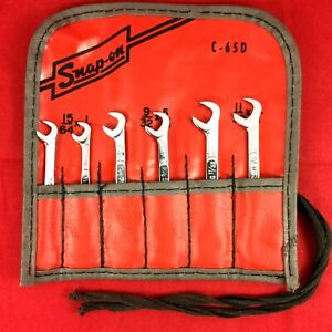 Snap on 6 piece Ds806 4 way Angle Open end Midget Ignition Wrench Set C 65d