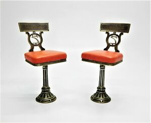 Pr Of Art Deco Iron Soda Fountain Stools