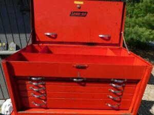 Vintage Snap On Top Chest Box Top Box Kr 61 Red Cap Superchest 31 L 7 Drawers