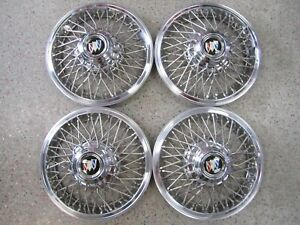Set 4 New Buick 14 Wire Wheel Covers Complete Set Including Towers Locks