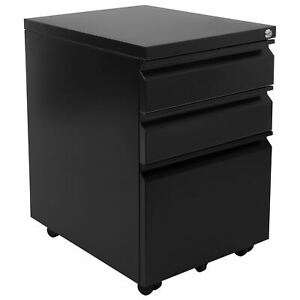 Mount it Mobile File Cabinet With 3 Drawers