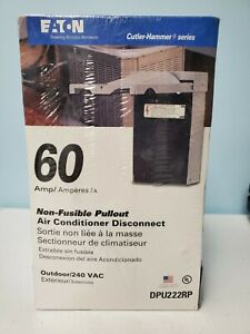 Dpu222rp Eaton Cutler Hammer 60 Non Fusible Pullout Air Conditioner Disconnect