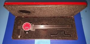 Starrett 120 6 Dial Caliper 0 6 Red Dial Face And Red Case 120 Made In Usa