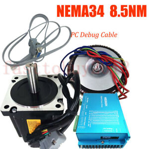 1214oz in 8 5nm Close loop Stepper Motor Nema34 Dsp Driver power Supply pc Cable