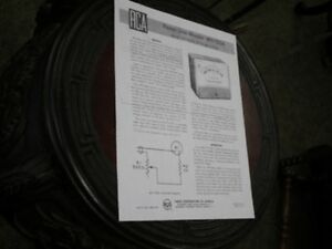 Rca Wv 120a Power line Monitor Instruction Manual