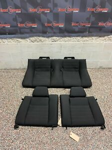 2014 Ford Mustang Gt Oem Black Cloth Rear Seats Recaro Package Coupe