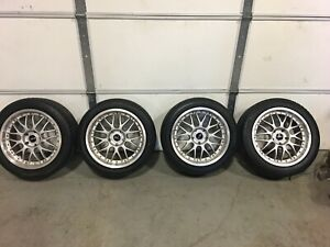 Jdm 17 Bbs Rs733 Hinodex Stern Forged 17x8 17x9 Staggered 5x114 3 Wheels Rims
