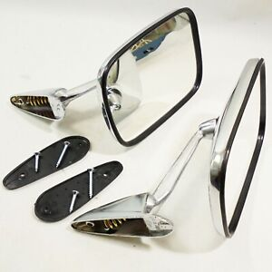 For Fender View Mirrors Vintage Classic Car Side Wing Mirrors Square Universal