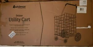 Deluxe Utility Rolling Cart By Whitmor Black 21 X 24 5 X 40 12