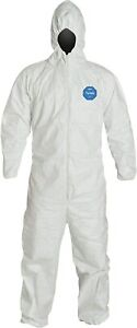 Dupont Tyvek Coveralls With Attached Hood 888120014141 Medium 25 Pack