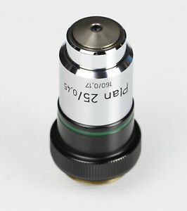 Carl Zeiss Plan 25x 0 45 Phase Contrast Microscope Objective 46 06 10 9903