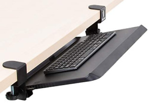 Stand Steady Clamp On Keyboard Tray With Adjustable Tilt Ergonomic Under Desk