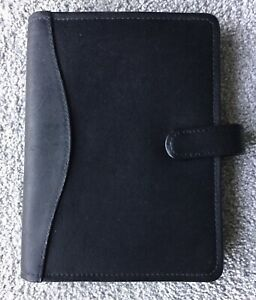 Black Compact Leather Pad Portfolio From The Jacara Collection By David King