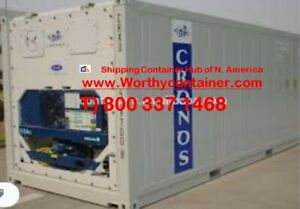 Refrigerator Container 40 High Cube 40 Cw Reefer Container In Seattle Wa