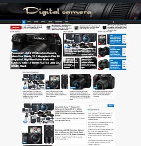 Digital Camera Amazon Affiliate Website Turnkey Online Business Solution Fully A