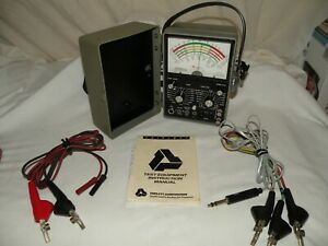 Triplett Model 4 Type 2 Local Loop Tester W Leads Manual Very Good Condition