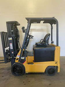 Caterpillar 5000 Lb 3 Stage Mast Electric Forklift Reconditioned Painted