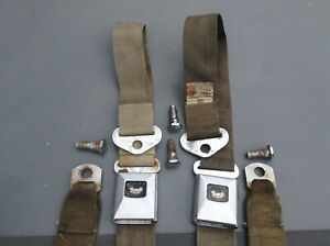 1966 1967 442 Chevelle Skylark Lemans Gto Carriage Seat Belts Oem With Bolts