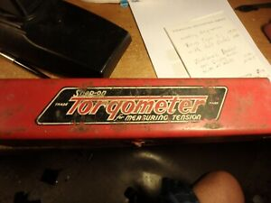 4t Vintage Snap on Torqometer Rt 600 As is With Original Metal Case
