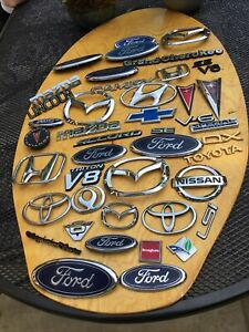 Lot Of 43 Toyota Brougham Ford Lincoln Pontiac Camry Chevy Emblems Oem