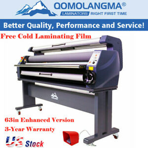 Enhanced Version 63 Wide Format Cold Laminator Machine Laminating Heat Assisted