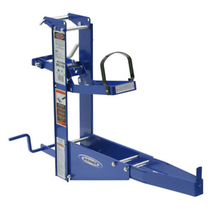 Steel Pump Jack W Hand Crank Safety Brake Works With Planks Up To 24 In Wide
