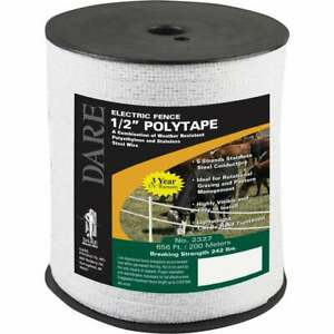 Dare 1 2 In X 656 Ft Polyethylene Electric Fence Poly Tape 2327 1 Each