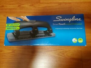 Swingline Smart Touch Compact 3 Hole Paper Punch 20 Sheet Capacity New