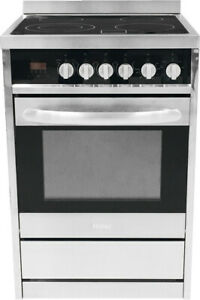 Haier 24 Stainless Electric Range With European Convection Hcr2250aes