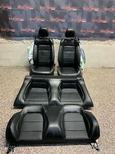 2020 Ford Mustang Gt Oem Convertible Front Rear Black Leather Seats Blown Bags