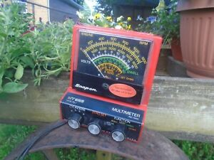Vintage Snap On Mt 926 Multimeter Ohm Volts Dwell Rpm Cylinders 4 5 6 8