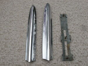 1957 Chevy 210 150 Rear Fender Fin Top Crown Molding Very Nice Looking Pair