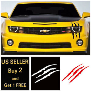 15 8 Monster Claw Scratch Scar Decal Reflective Sticker For Car Headlight Decor