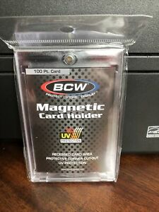 Bcw One touch 100pt Point Magnetic Card Holder With Uv Protection