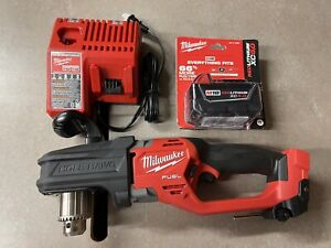 Milwaukee M18 Fuel 1 2 Hole Hawg Right Angle Drill 2807 20 With 5 0 An Charger