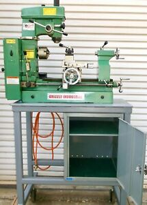 Grizzly Combo Lathe mill drill Press Model G4015 Plus Stand Accessories
