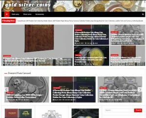 Gold Silver Coins Amazon Affiliate Website Turnkey Online Business Solution Ful