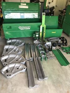 Greenlee 881 Hydraulic Bender Emt imc rigid 2 1 2 To 4 W Pump And 1813 Table