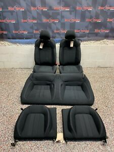 2020 Ford Mustang Gt Oem Coupe Black Cloth Front Rear Seats 2k Miles