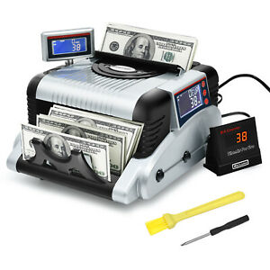 Costway Money Counter 3 Displays Cash Counting Machine W Counterfeit Detection