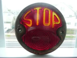 Antique 1920s 30s Auto Model T A Rear Stop Tail Light Lamp Exc