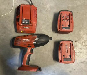 Hilti Siw 22t a 1 2 Impact Wrench 2 Cpc B22 5 2 Battery Charger Read