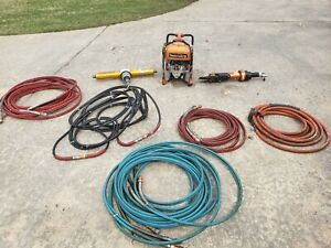 Holmatro Jaws Of Life Cutter Ram Pump And Hoses Rescue Parts Only