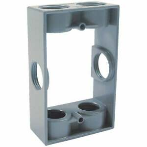 Bell 6 outlet 3 4 In Npt Die cast Aluminum Weatherproof Outdoor Box Extension
