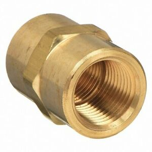 Parker 207p 8 Brass Pipe Coupling 1 2 Female Pipe X 1 2 Female Pipe 06103 08