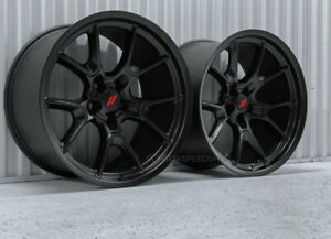 Satin Black Hellcat 50th Anv Edt Wheels 20x11 Dodge Challenger Charger Widebody