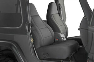 For 97 02 Jeep Wrangler Tj 4wd Black New Front Rear Seat Cover Full Set