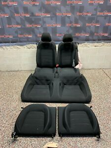 2016 Ford Mustang Gt Oem Coupe Black Cloth Front Rear Seats One Blown Bag